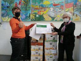 Een mooie opbrengst uit verkoop van Hooglandse Streekprodukten voor de Voedselbank