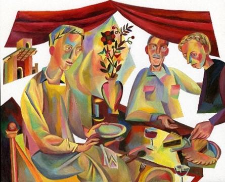 Samen eten en drinken in de bijbel – maaltijden als momenten van ontmoeting. Volgende digitale bijeenkomst 2 augustus.