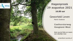 Hagenpreek op zondag 29 augustus