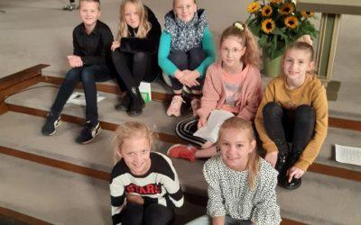 Bezoek van kinderen van De Eshof